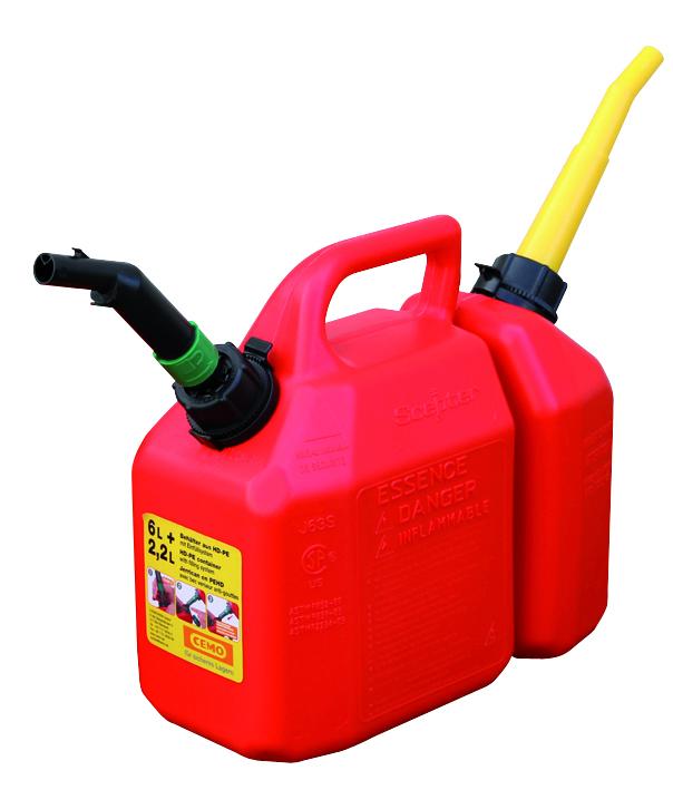 Jerrican pour mélange huile et essence