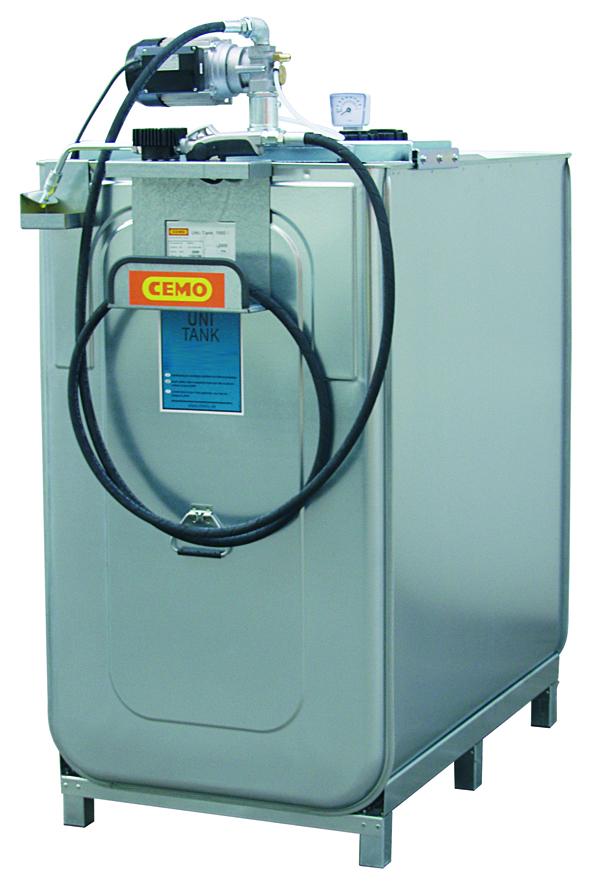 Cuve de stockage huile avec pompe électrique