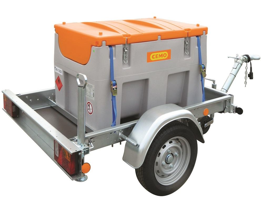 Cuve de transport gasoil livrée avec sa remorque routière