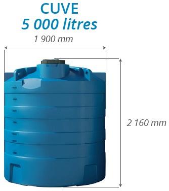 Cuve à eau de 5000 litres au meilleur prix