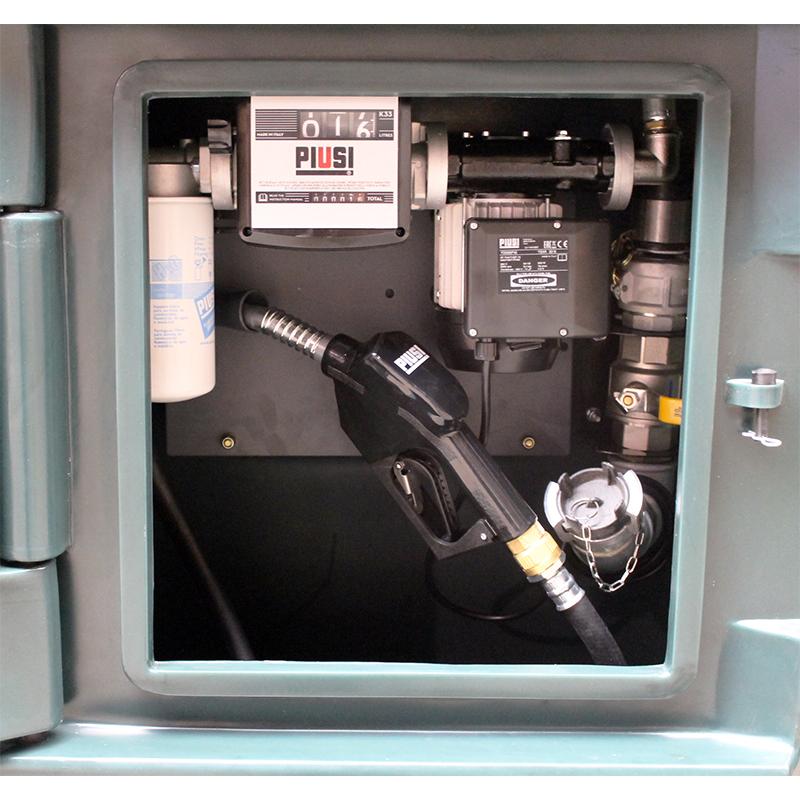 Pompe de transfert gasoil Piusi dans une cuve de 6000 litres
